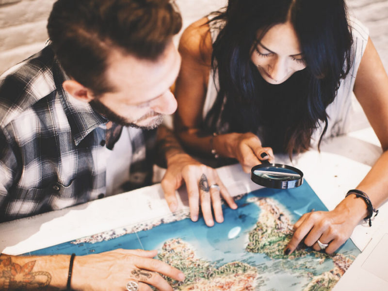 Couples Planning a Trip Together